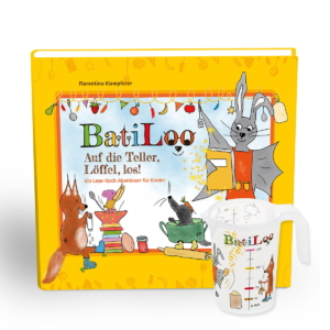 Batiloo Buch + Becher Aktion