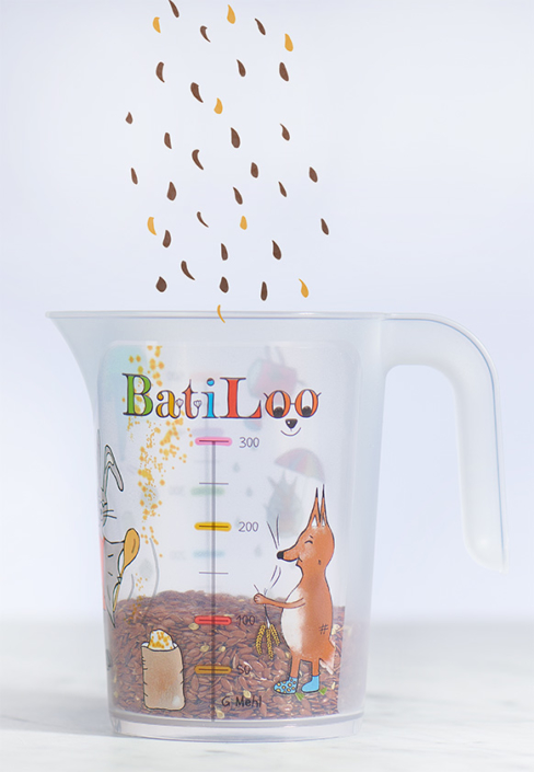 BatiLoo-Kinderkochen-Koerner messen