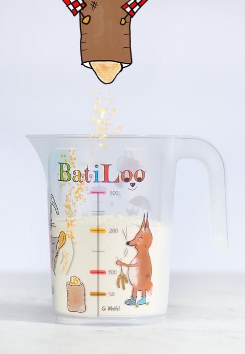 BatiLoo-Kinderkochen-Mehl einfuellen