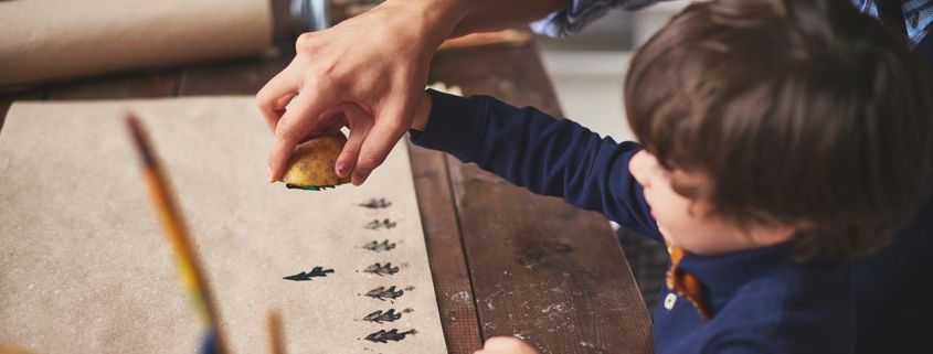 Kartoffelstempel selbst herstellen